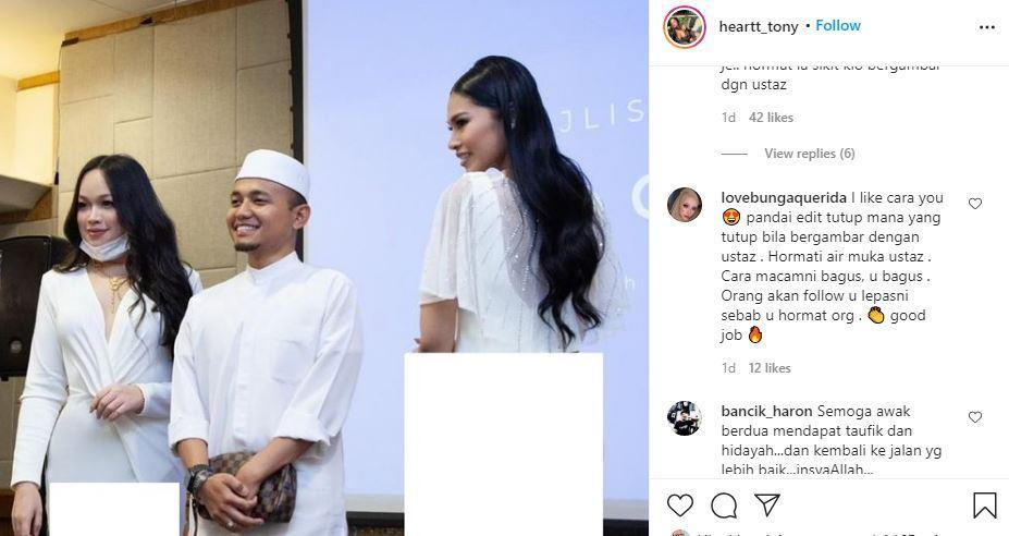 Screenshot of the photo posted by Hertonnye Linggom and some comments from her fans.