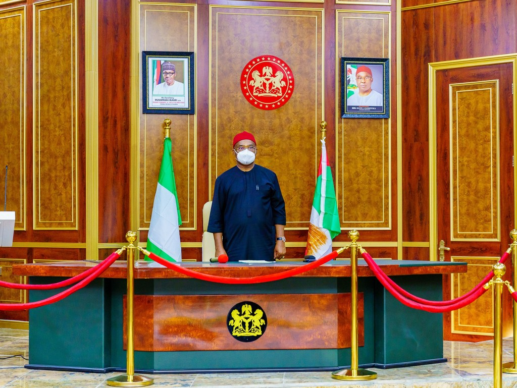 Governor Hope Uzodimma Inaugurates Imo State Covid 19 Action And Economic Stimulus Program Steering Committee