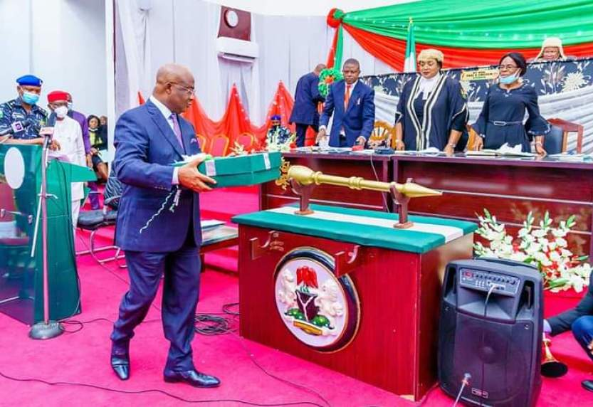 Governor Hope Uzodinma at the Imo State National Assembly
