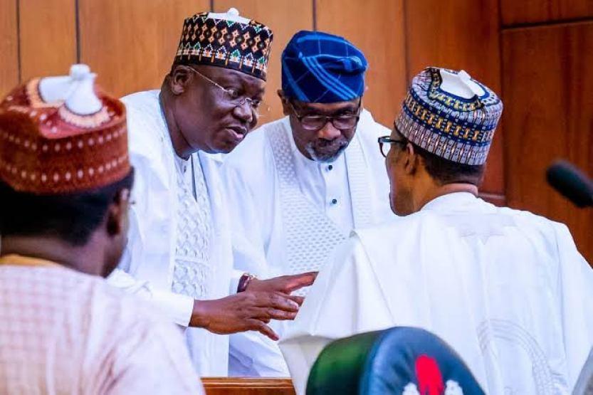 Politicians: President Buhari , Senate President Lawan and House Speaker, Gbajabiamila