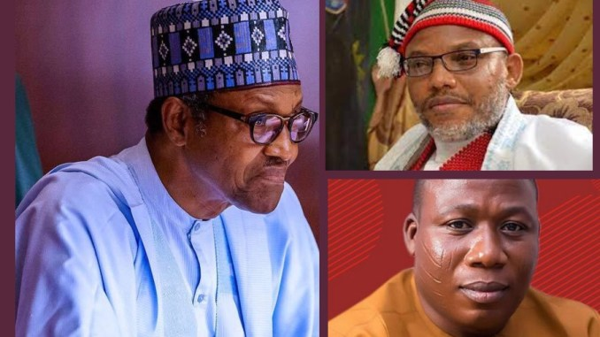 President Buhari, Nnamdi Kanu and Sunday Igboho