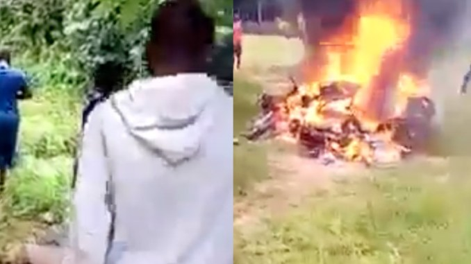 IPOB Sit At Home Order- Uknown men alleged to be IPOB ESN members set fire in school while students take Junior Waec