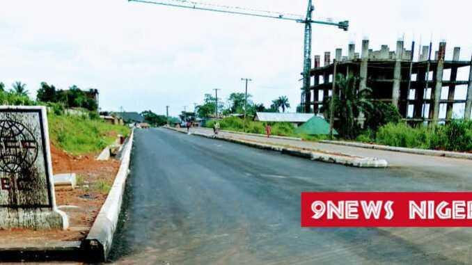 IMO STATE GOVERNMENT COMPLETES THE ASPHALTING OF THE NEW STADIUM ROAD IN OKIGWE LGA