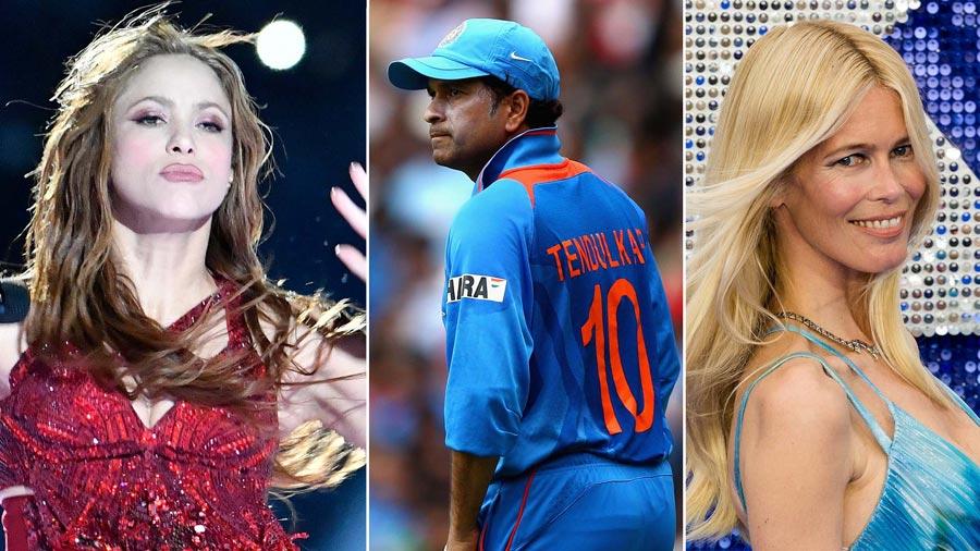 Linked to offshore assets: singer Shakira, cricket legend Sachin Tendulkar, model Claudia Schiffer Image: Getty Images