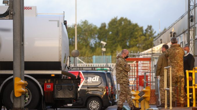 UK Military engaged to supply fuel to filling stations as scarcity worsens