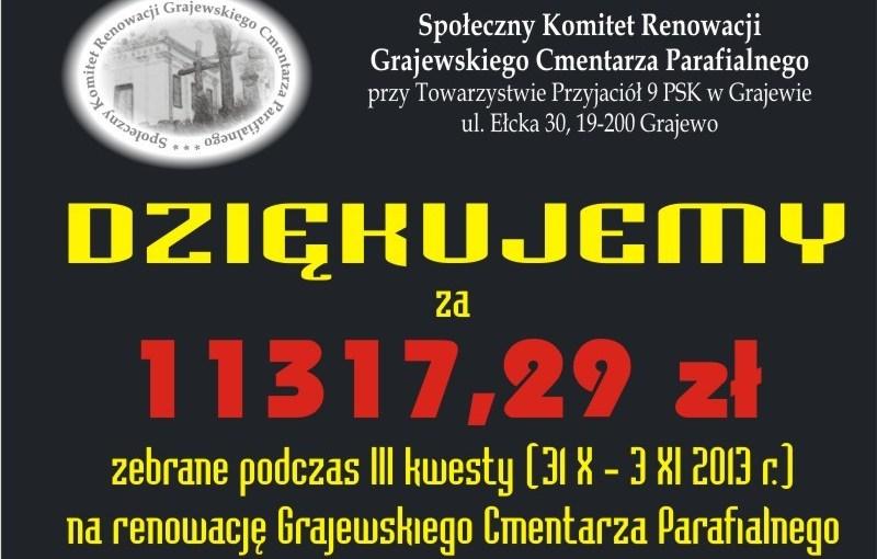 31.10-3.11.2013 III kwesta cmentarna