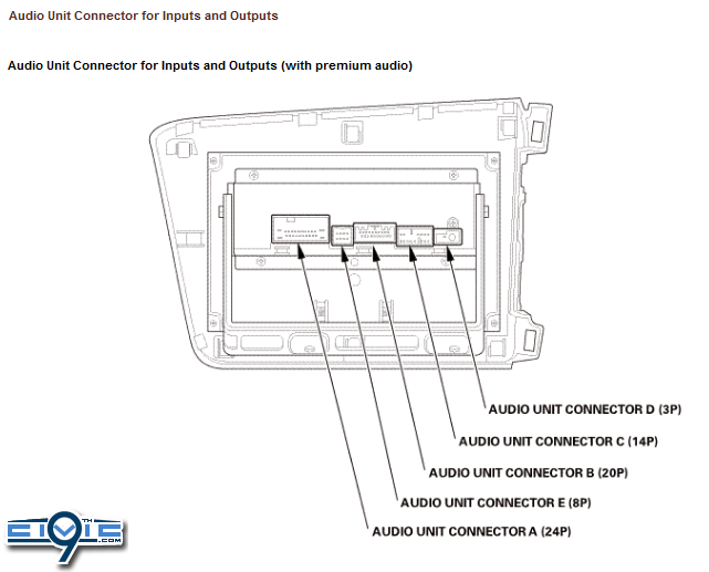 2012 Civic Audio Wiring Guide & Pinouts For Factory Radio