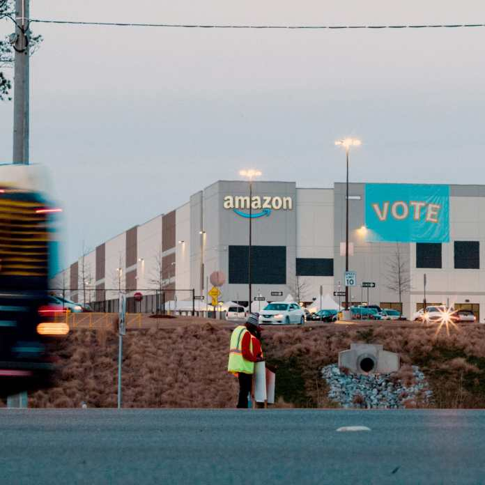 Amazon workers voted against forming a union Friday in Bessemer, Alabama