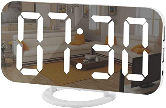 LED Electric mirror alarm clock