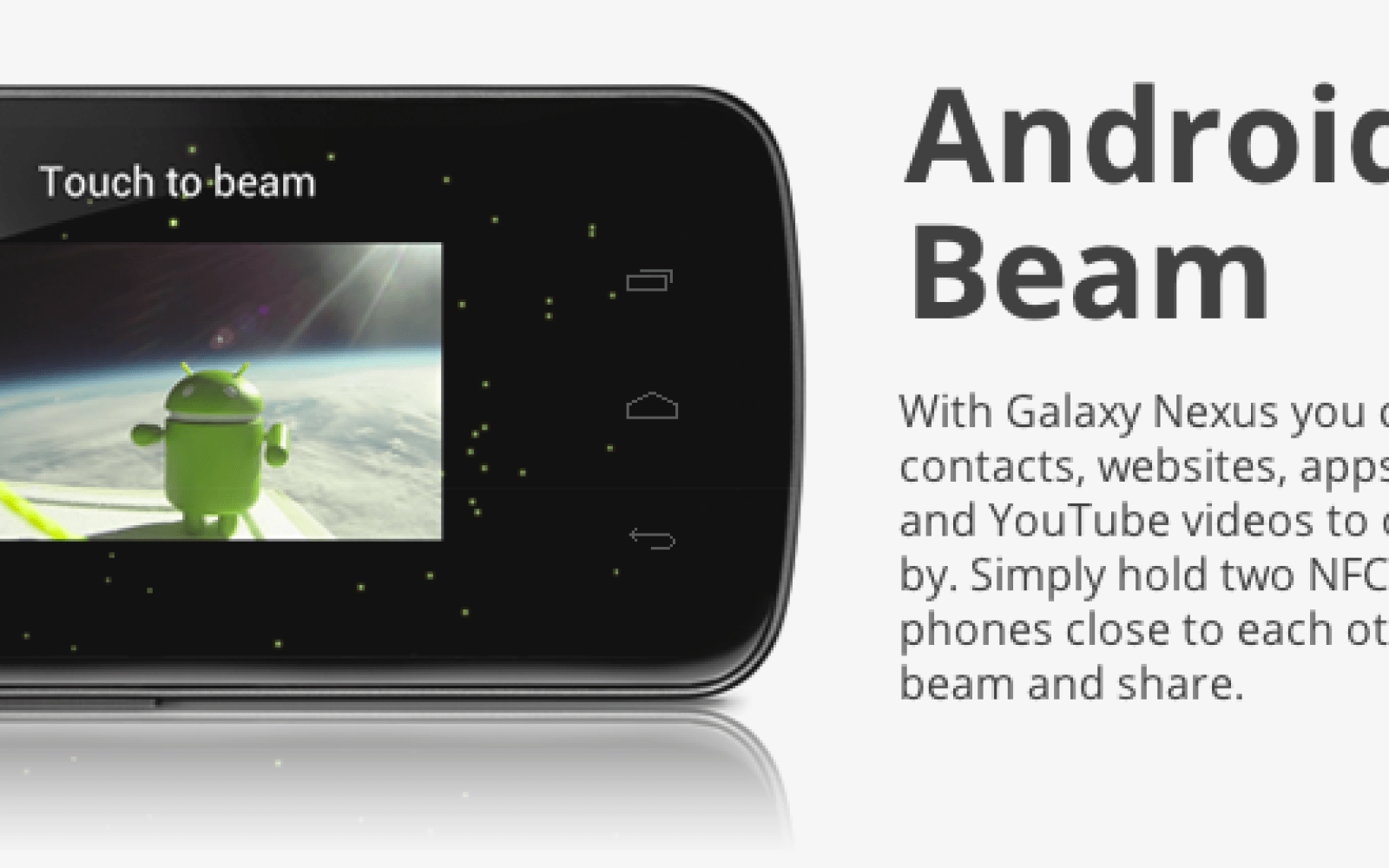 Google unveils Android Beam, uses NFC technology to transfer