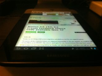 Galaxy Tab 7 Plus Flat