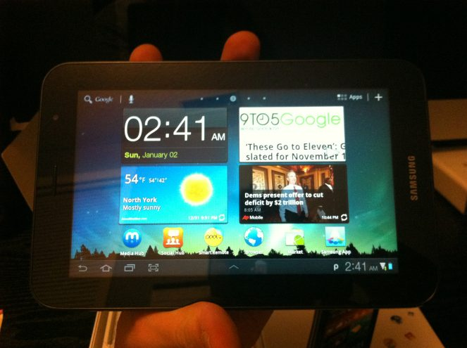 Galaxy Tab 7 Plus Front