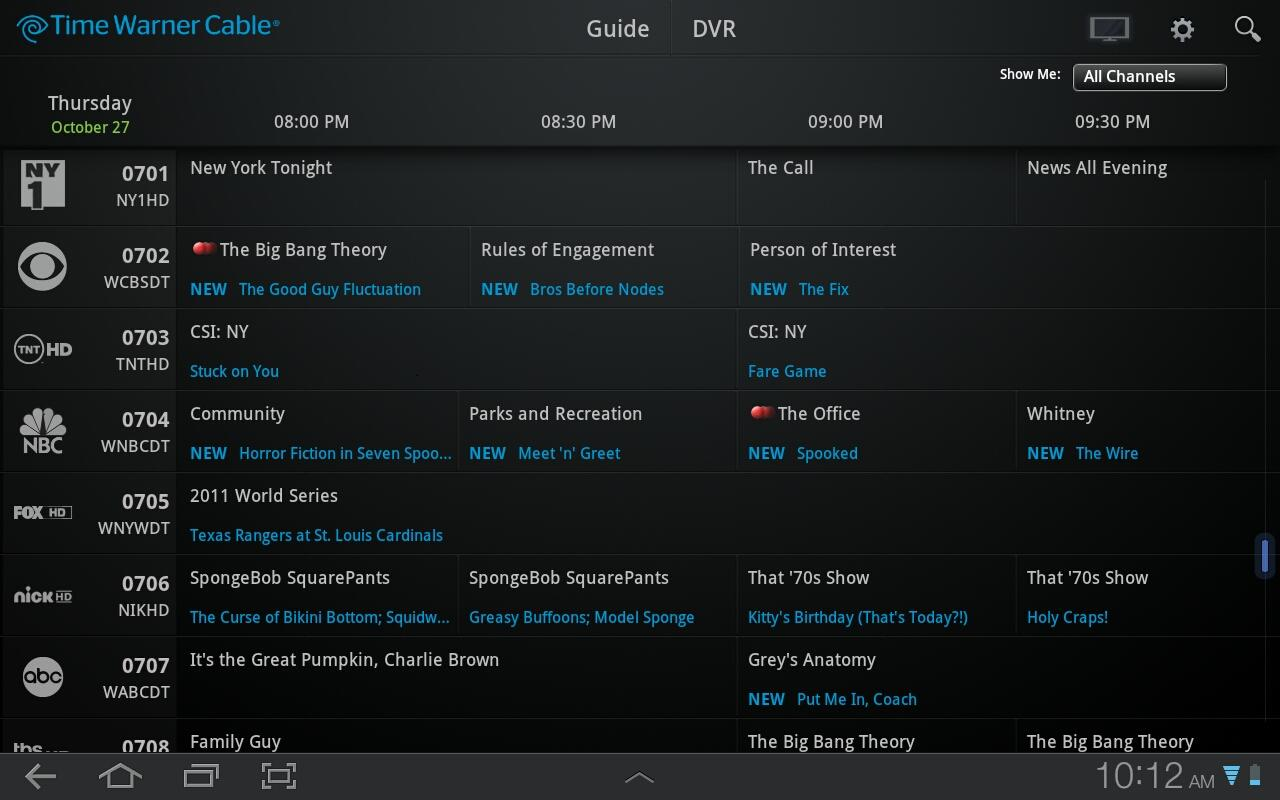 Oceanic Time Warner Cable Tv Listing: Time Warner launches Android app with remote channel guide and DVR rh:9to5google.com,Design