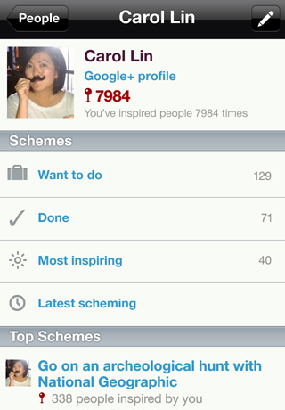 iOS screenshot 5 - profile