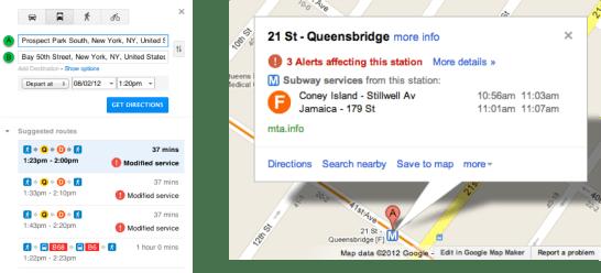 NY Alerts Transit Desktop