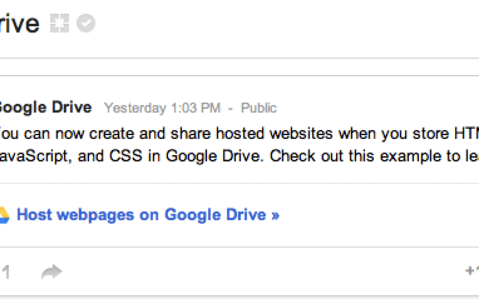 Google Drive now allows Web developers to create and share