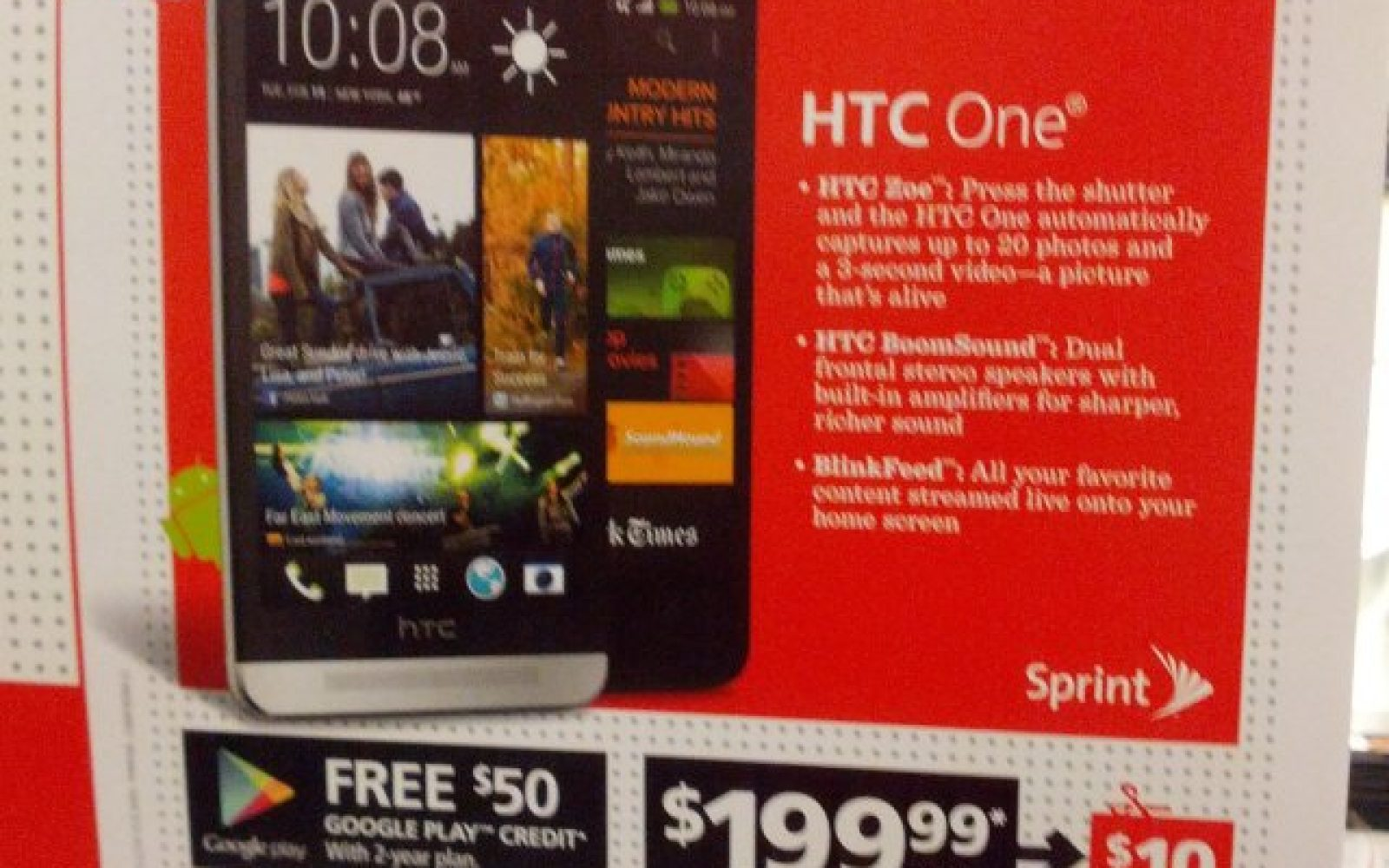 RadioShack to offer Sprint HTC One for $199 99+$50 Google Play gift