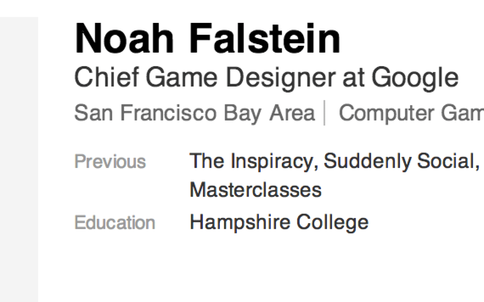 Google Hires Noah Falstein As Its Chief Game Designer ToGoogle - Game designer education requirements