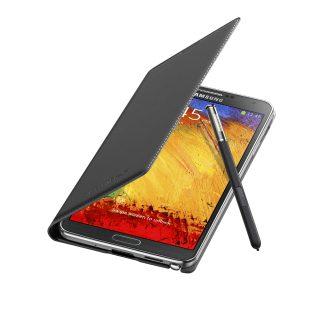 Galaxy Note3 FlipCover_004_Open Pen_Jet Black