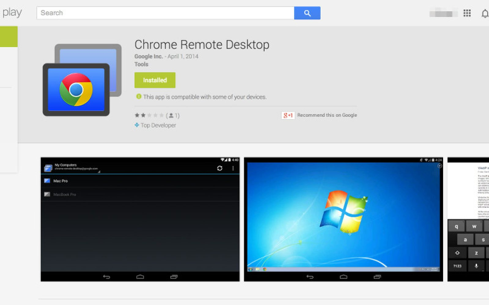 Google's Chrome Remote Desktop Android app arrives in beta