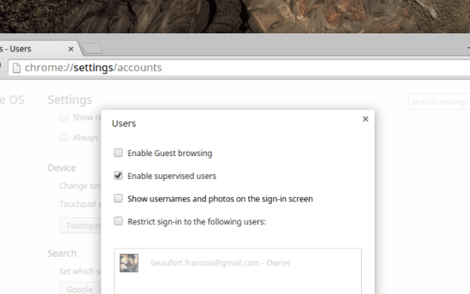 Chrome OS now supports supervised user access