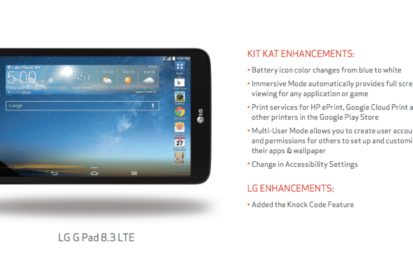 Android 4 4 2 rolling out to Verizon's LG G Pad 8 3 - 9to5Google