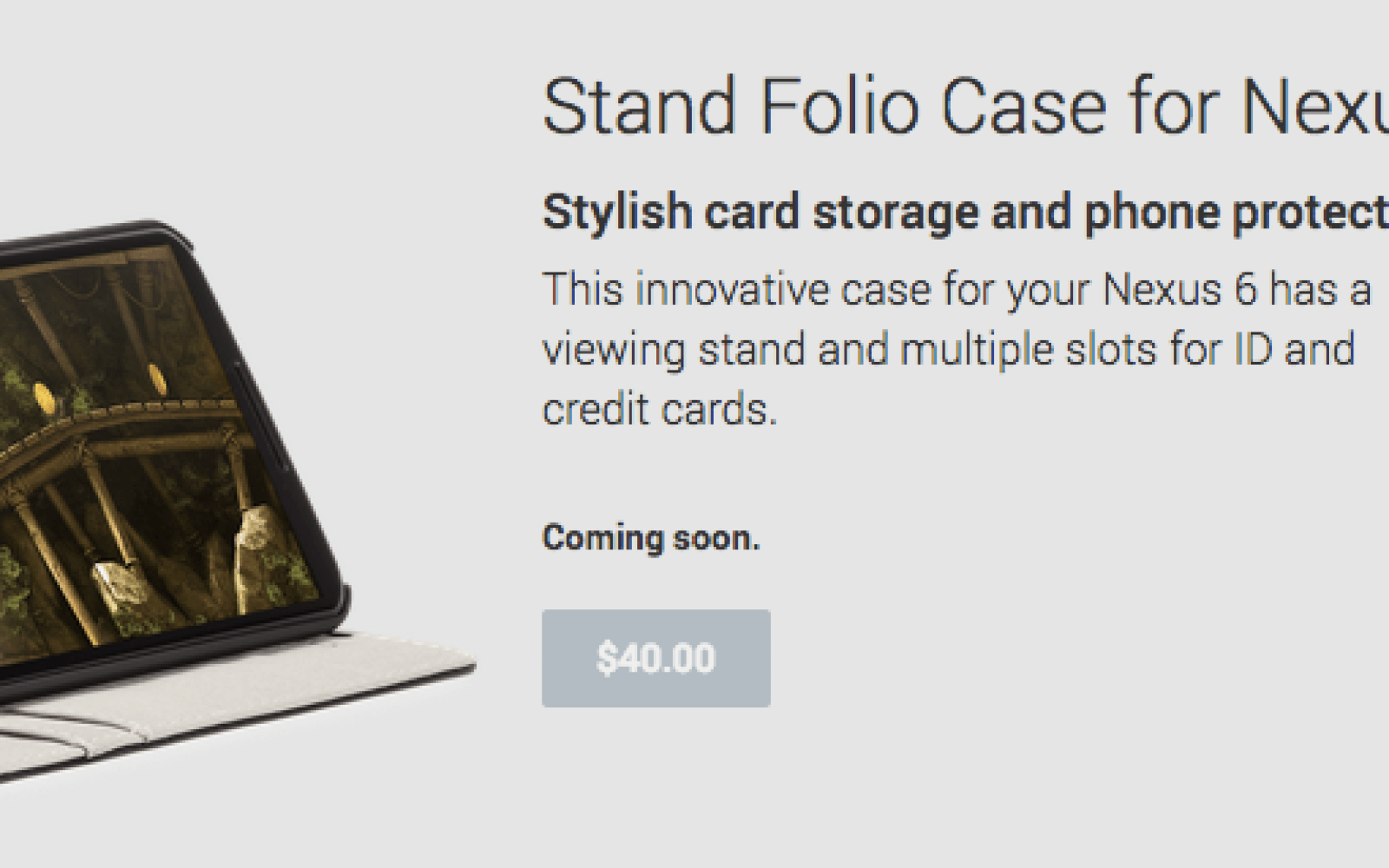 """Google Play begins advertising Nexus 6 cases """"coming soon"""" from Case Mate"""