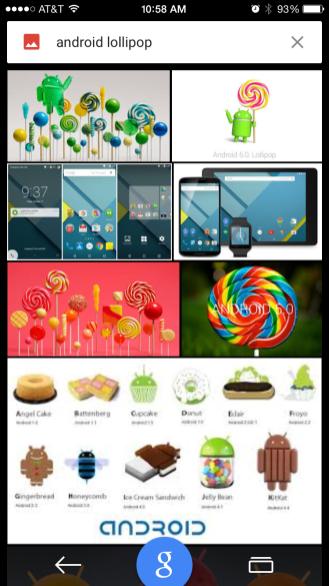 Google 5.0 for iOS