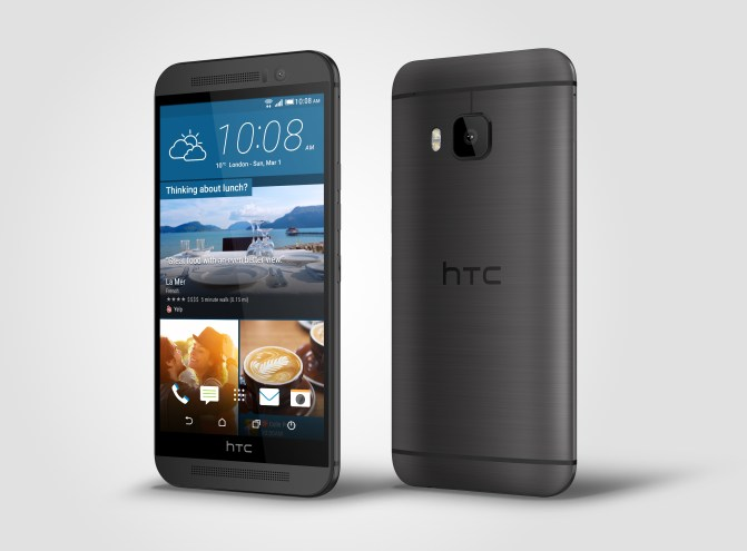 HTC One M9_Gunmetal_Left