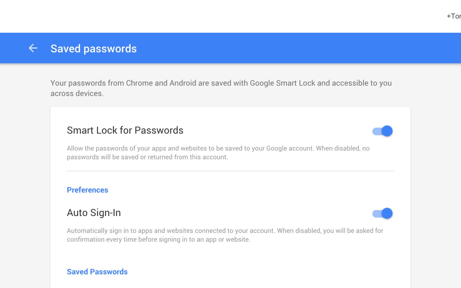 smart lock google password