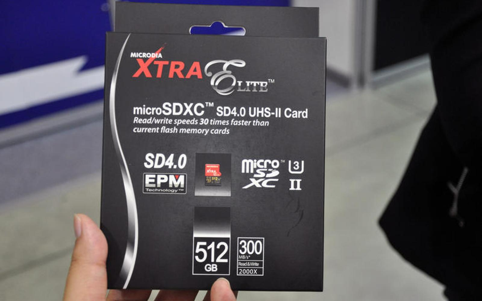 Microdia plans a microSD card with 512 GB of storage space, release in July