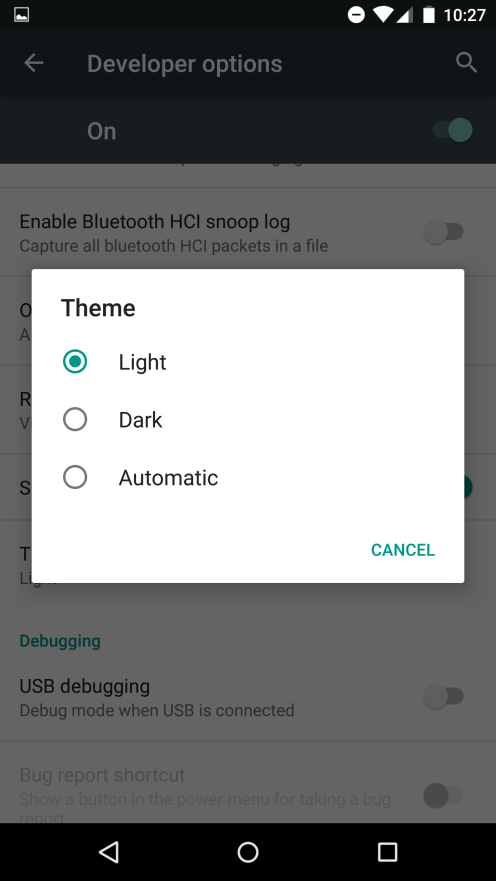 """Light,"" ""Dark,"" or ""Automatic"""