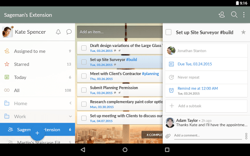 Wunderlist Android 2