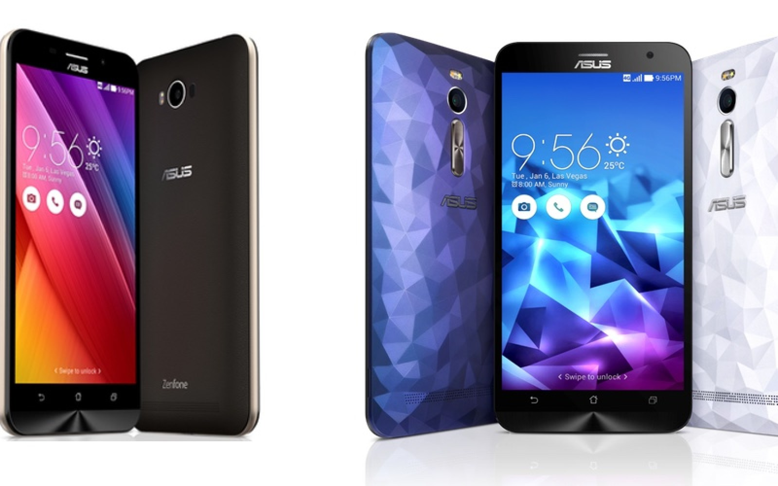Asus announces a slew of new phones, including ZenFone 2 Deluxe and 5,000mAh ZenFone Max