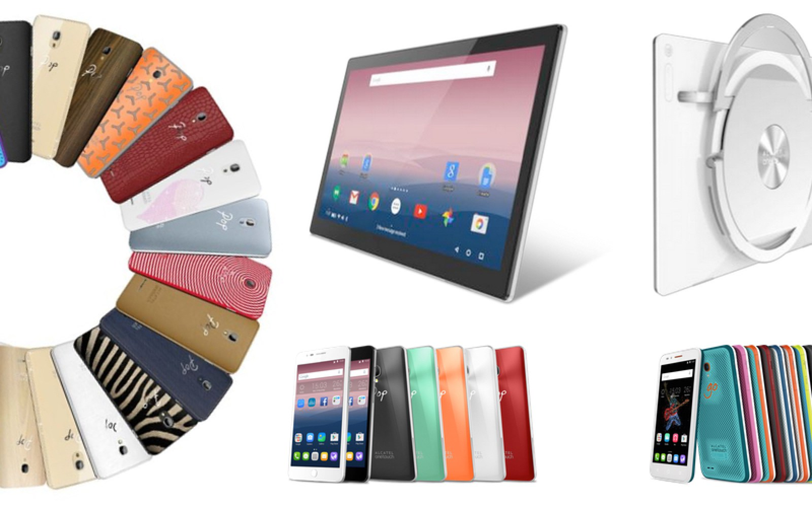 Alcatel OneTouch unveils new POP STAR with optional leather, wood backs alongside huge 17-inch Xess tablet