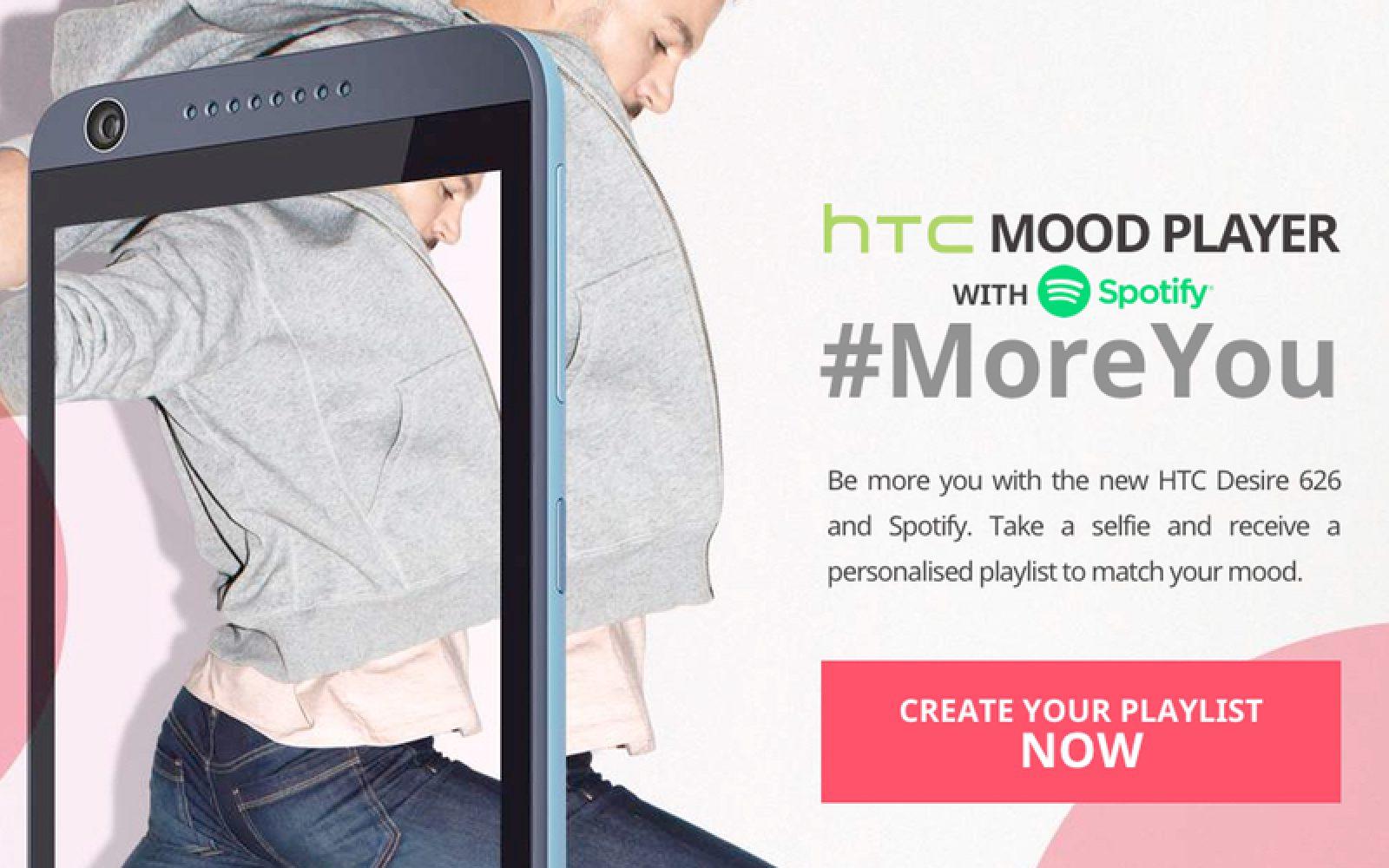 HTC Mood Player lets you create a custom Spotify playlist