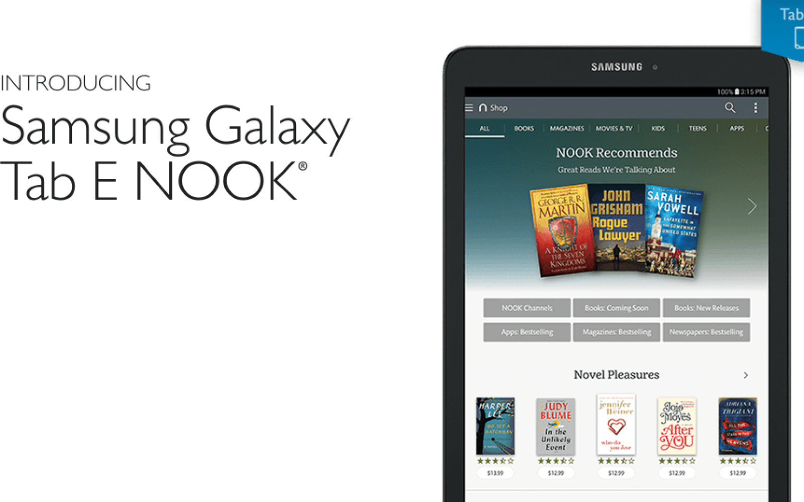 The Galaxy Tab E now available in Nook form thanks to Barnes & Noble ...