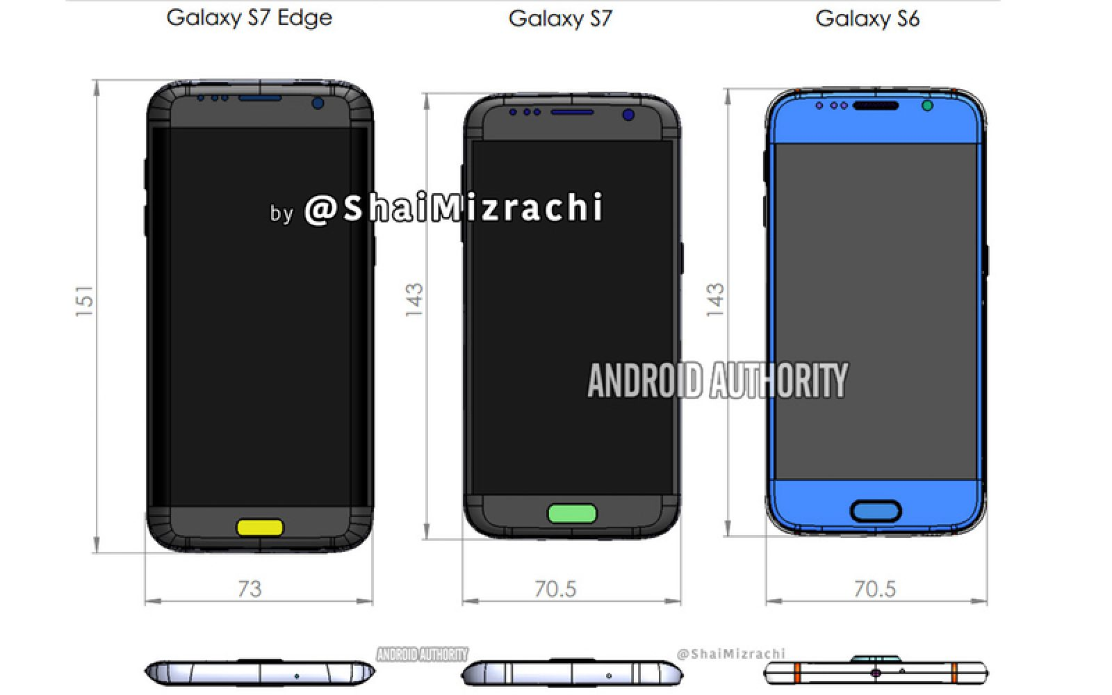 Samsung Galaxy S7 dimensions seemingly revealed in new schematics leak