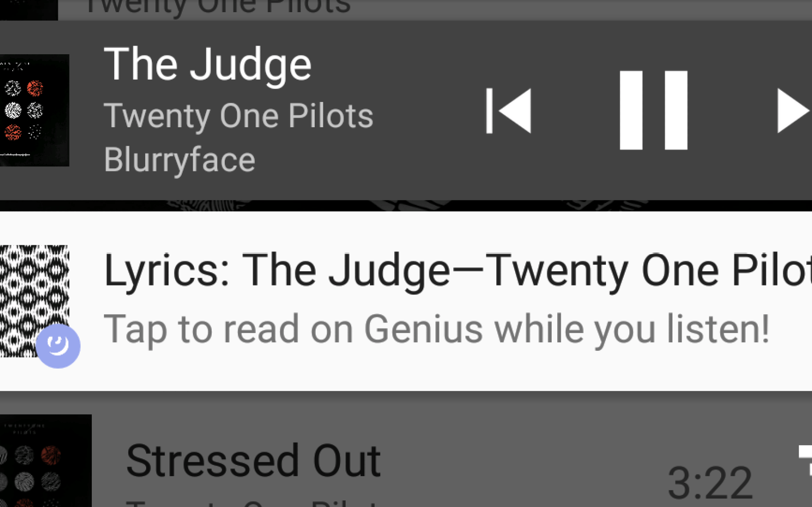 Genius app detects what song is playing on your phone and