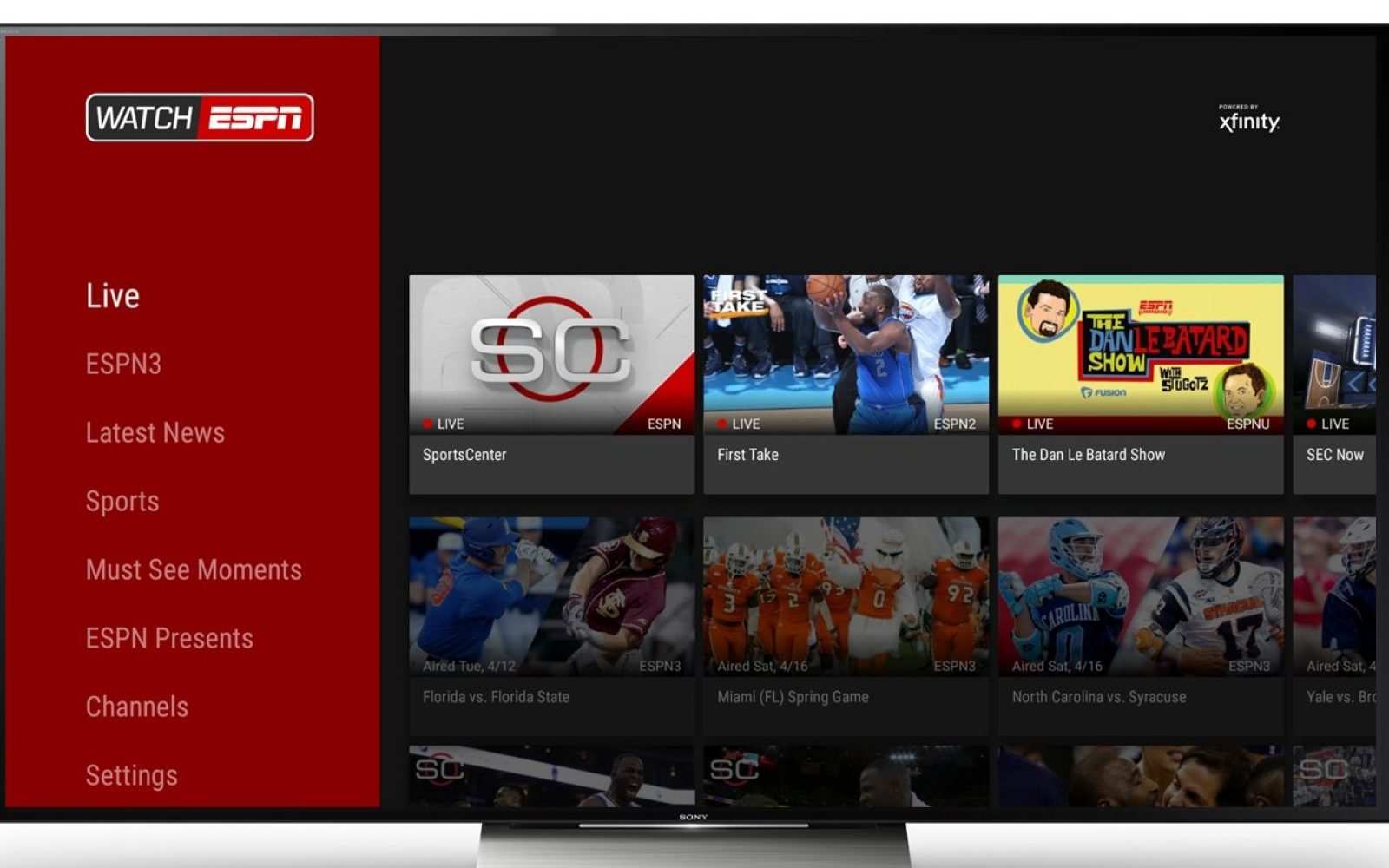 Stream Android To Tv >> New Espn App Will Let Subscribers Stream Live Sporting Events On