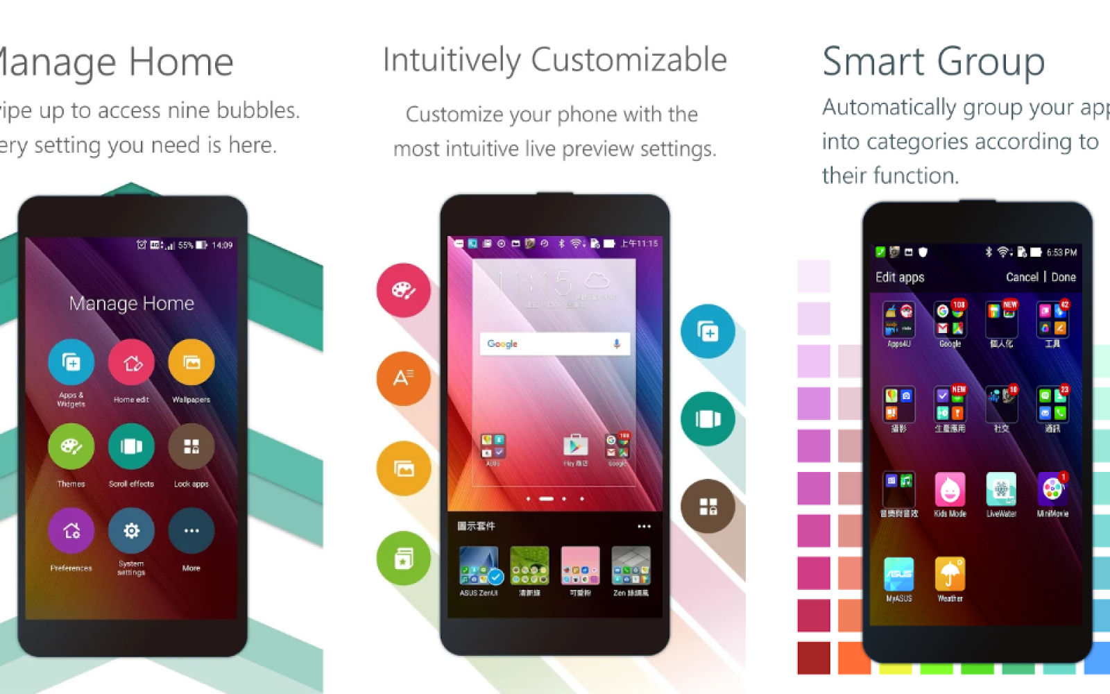 ASUS ZenUI Launcher now supports all Android devices running 4 3 and