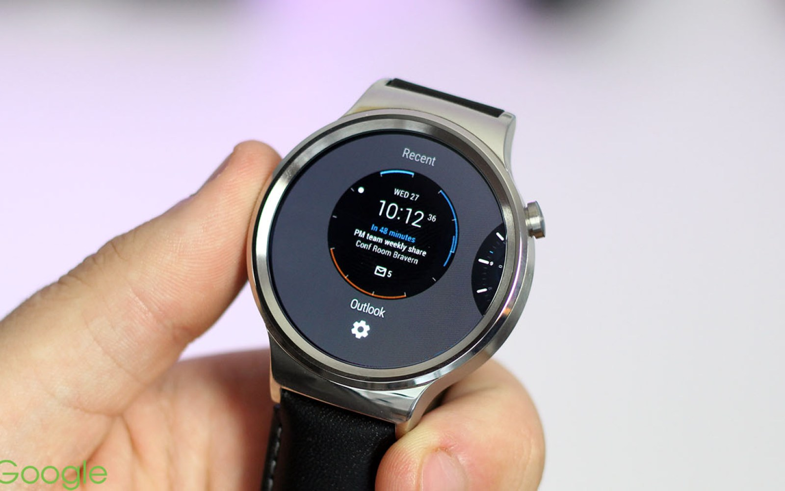 Quick hands-on with Microsoft's new Outlook watch face for Android Wear [Gallery]
