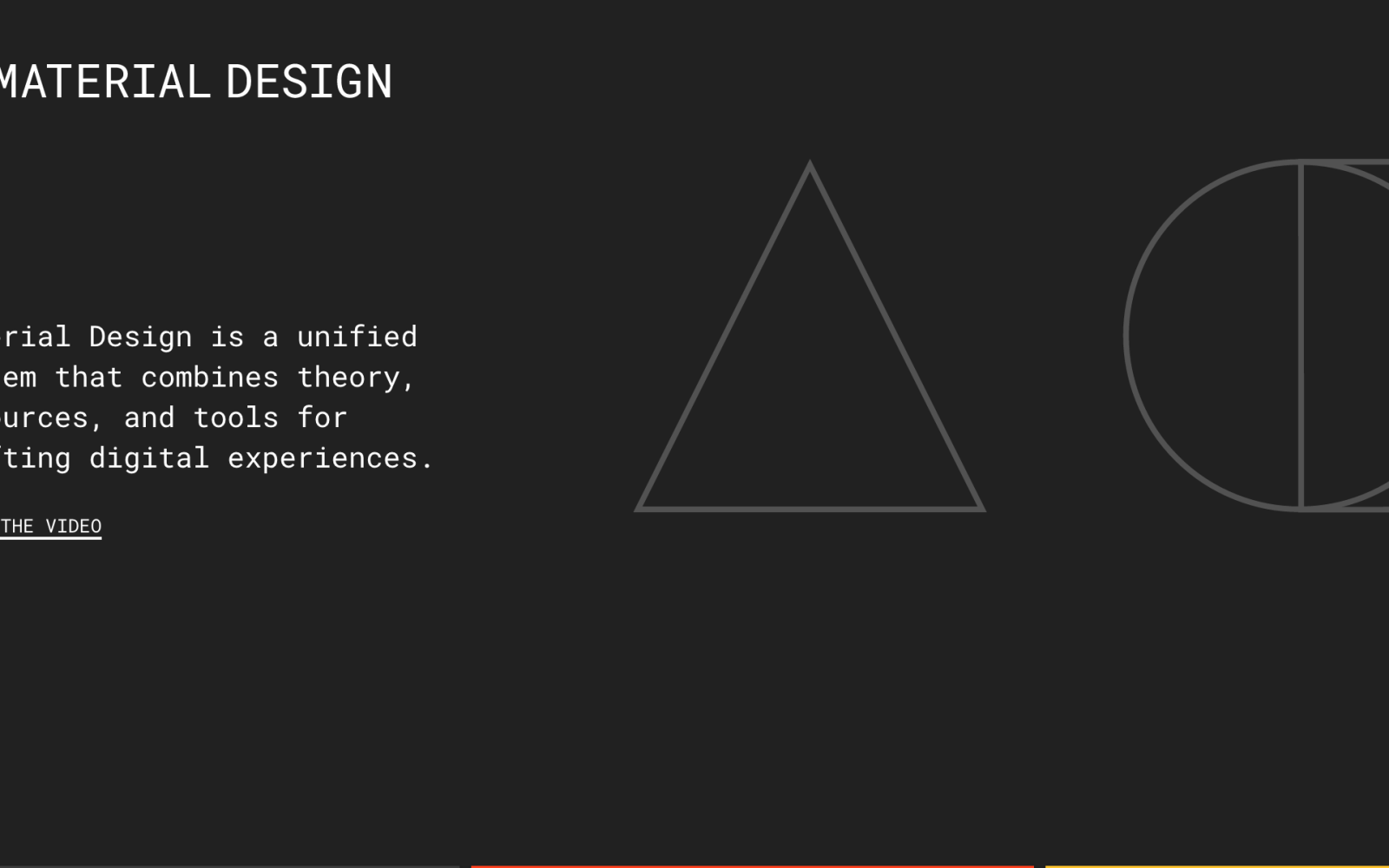 Material Components page goes live on Material Design website