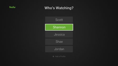 Multiple Hulu Profiles