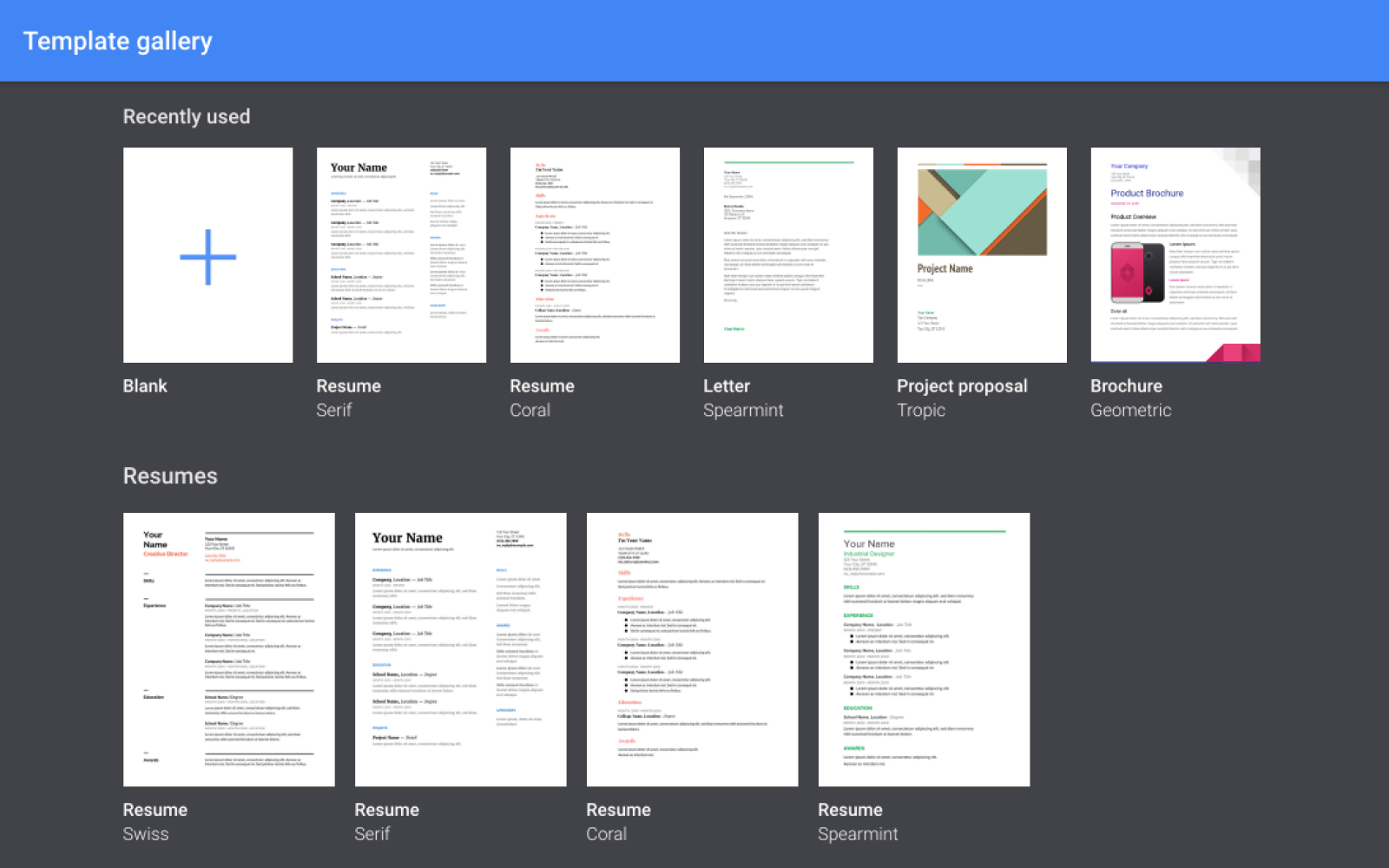 PSA Its Now Easier To Make A Google Doc From A Template Via Google - Google docs make a template