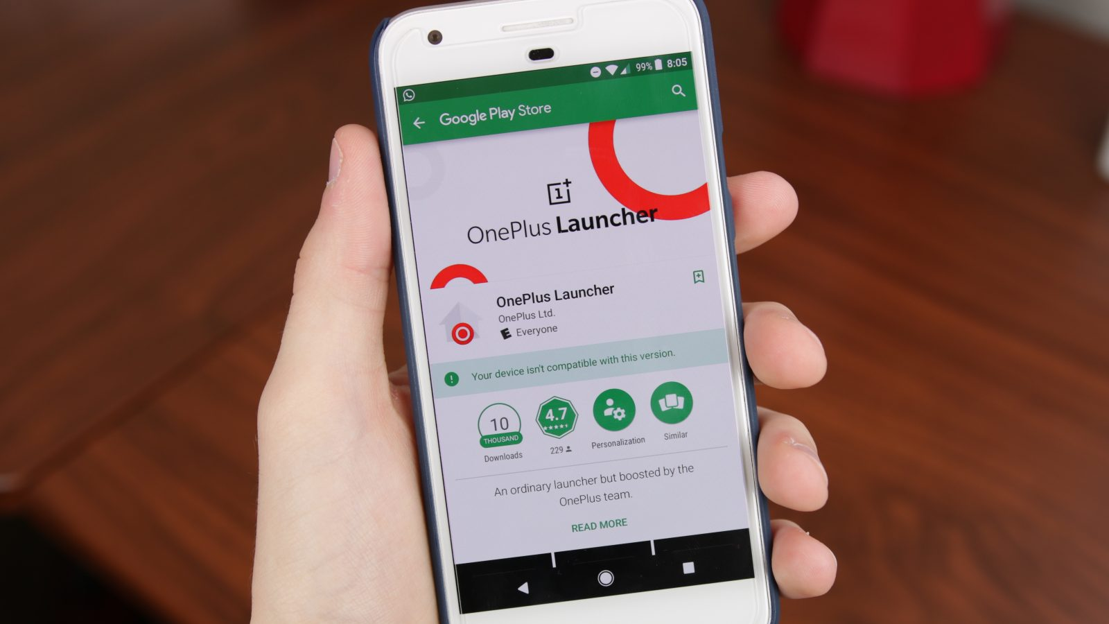 The OnePlus Launcher is now on the Google Play Store (again