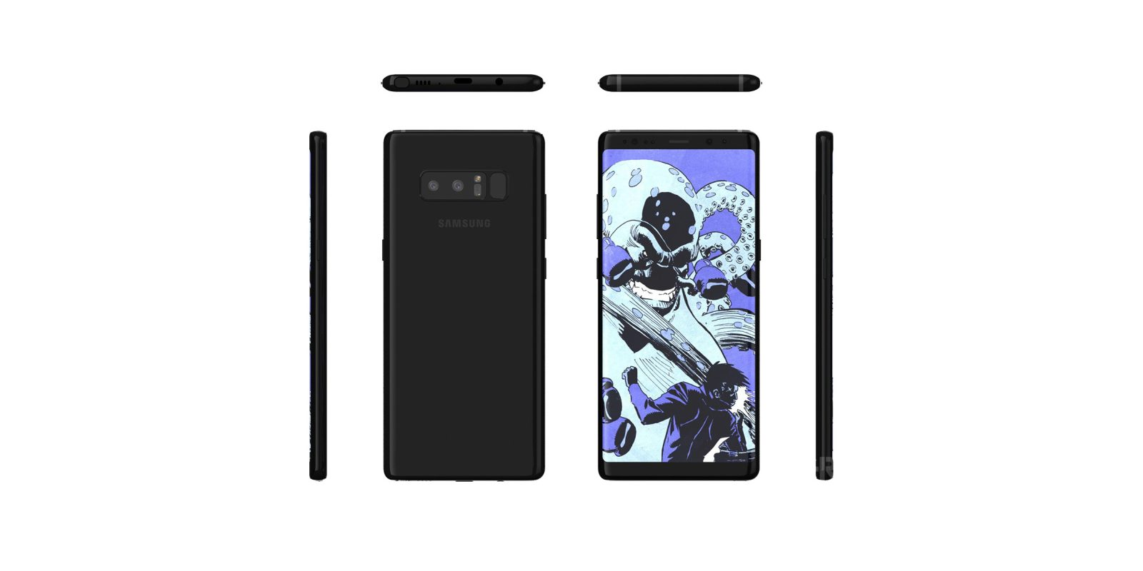 New Galaxy Note 8 renders show off a boxier S8 with Infinity