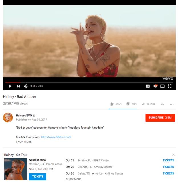 youtube-ticketmaster-integration