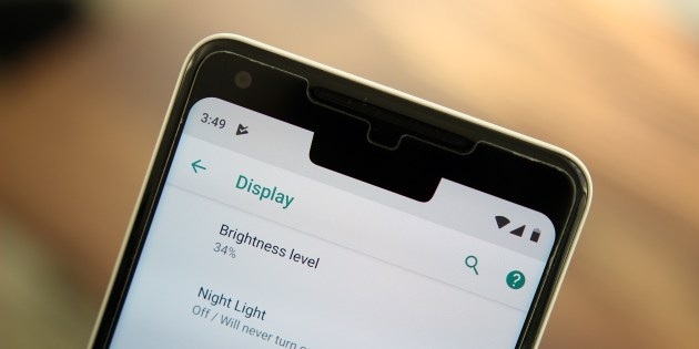 Image result for android 9 pie notch