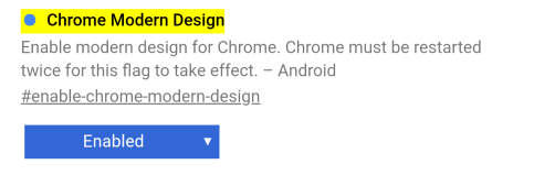 Select 'Enabled' on Android